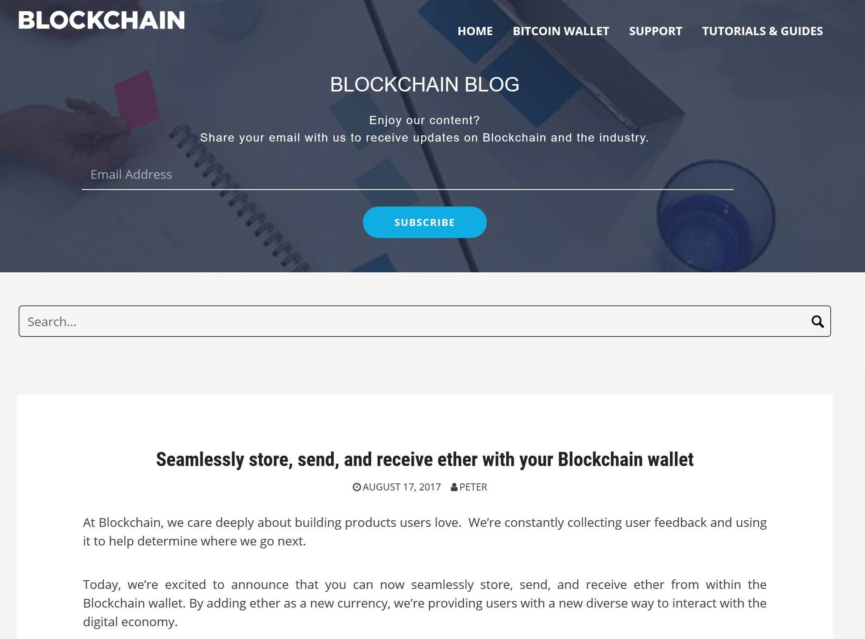 Ethereum blockchain.info