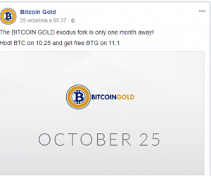 Bitcoin Gold Facebook