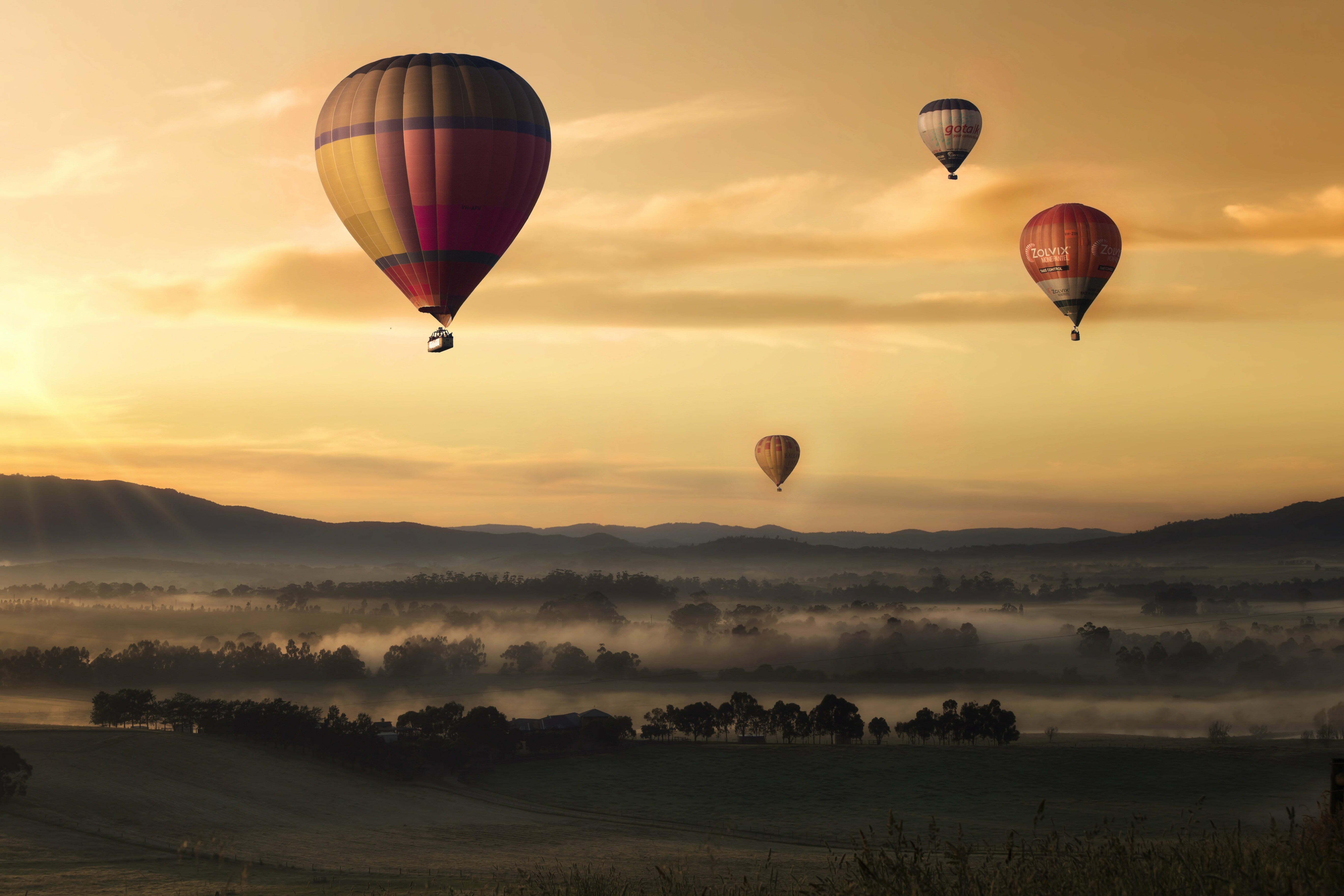 Balony niebo