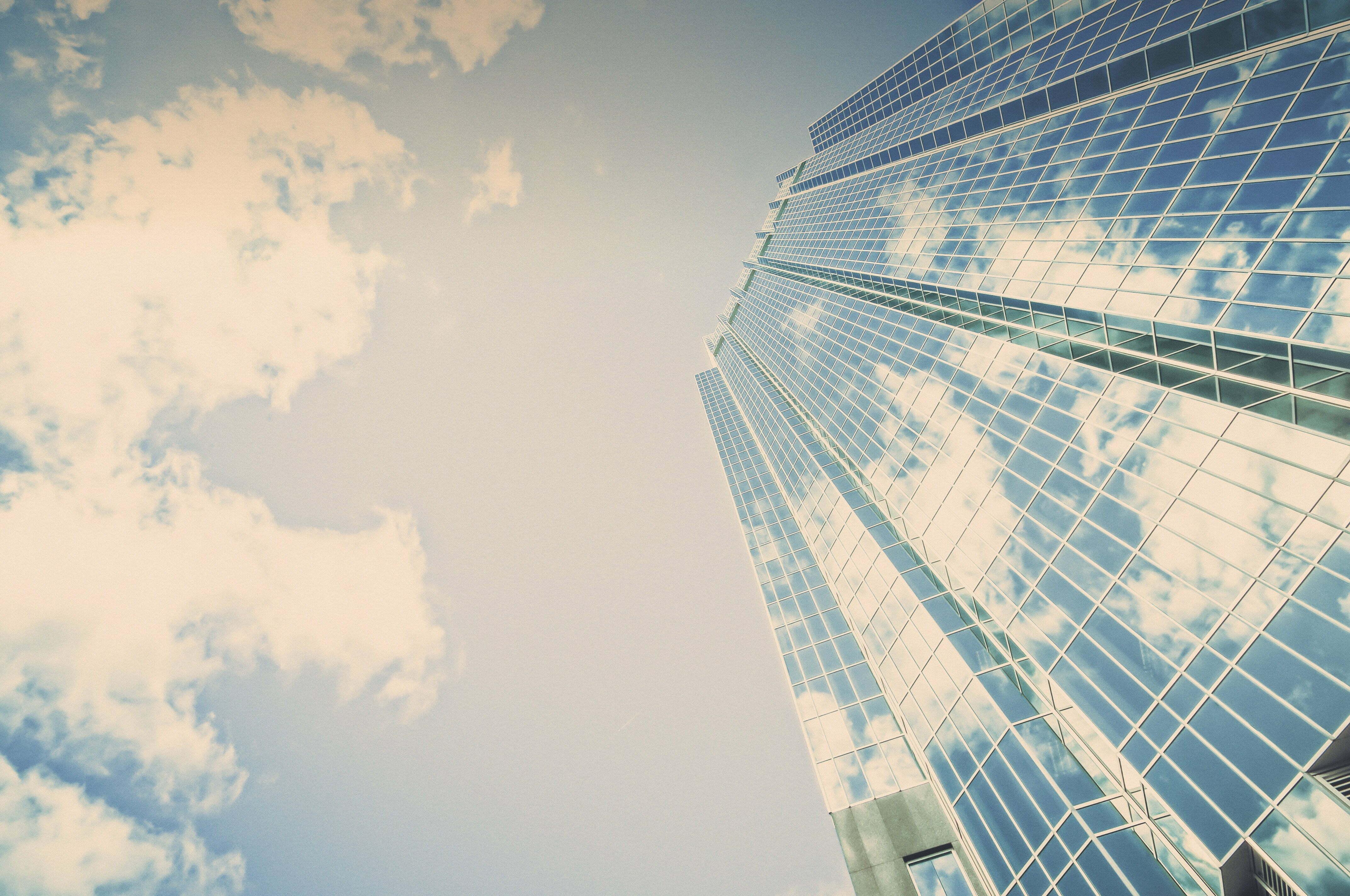 Bank, budynek, drapacz chmur