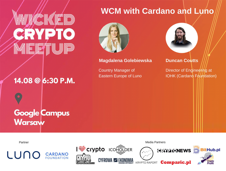 14.08.2018 – Wicked Crypto Meetup #8 – Cardano i Luno