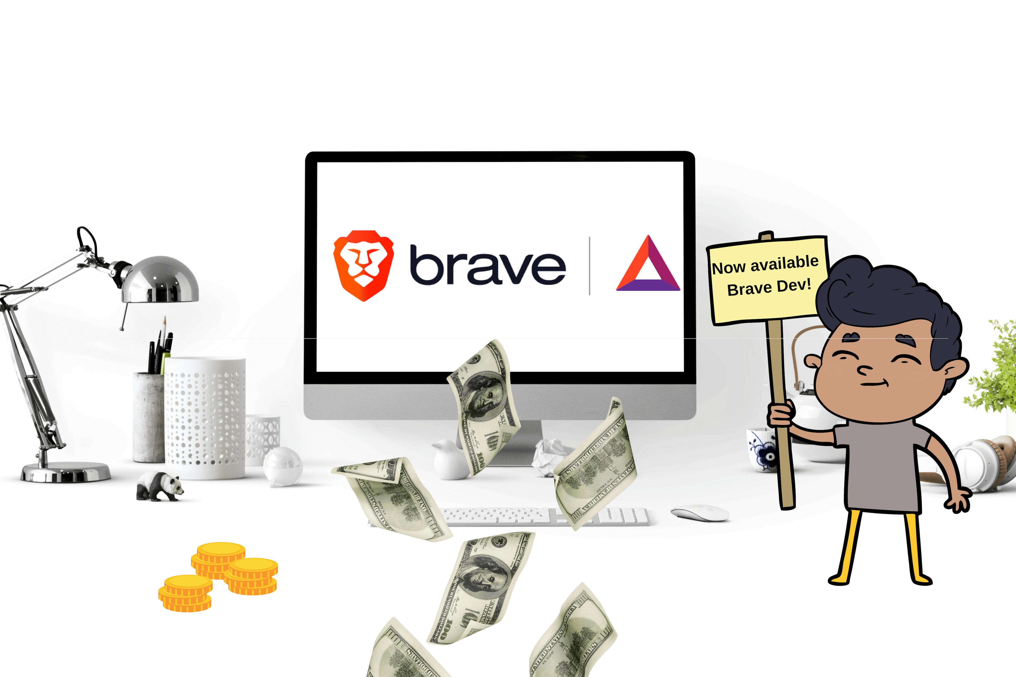 reklamy Brave udział w zyskach rewards