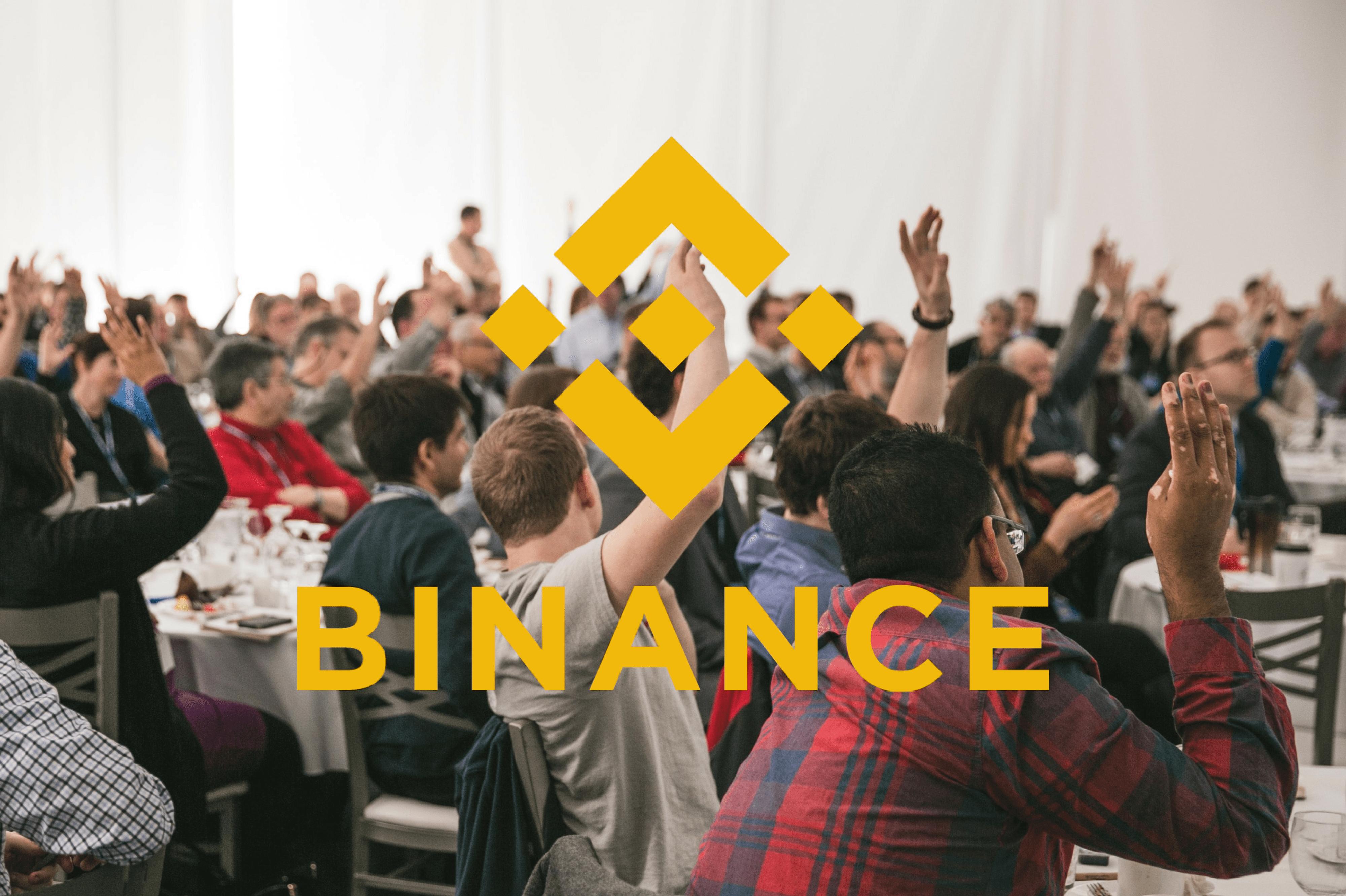 binance blockchain week konferencja dolary