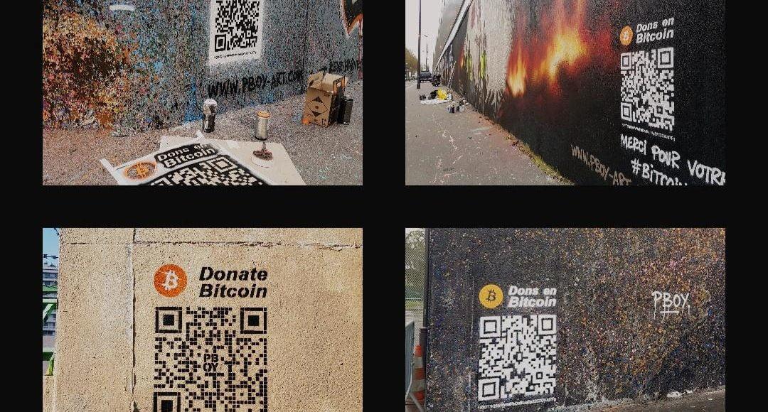 bitcoin pascal boyart tokenizacja sztuka dzieła paryż francja darowizna qr kod kryptowaluty
