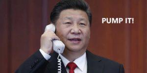 blockchain cena bitcoina przyczyny powody chiny xi jinping prezydent chin przemówienie pompa kryptowaluty kurs