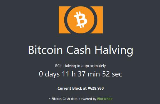 halving bitcoin cash