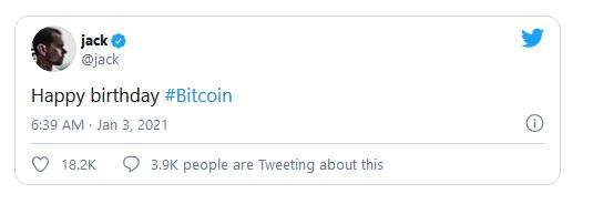 dorsey rocznica bitcoin