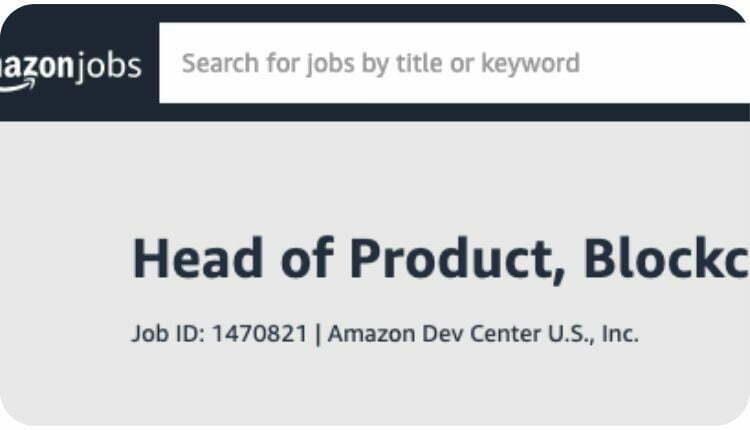 Praca w Amazon dla pasjonata blockchain